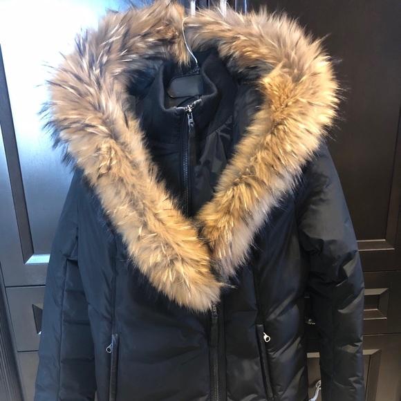 Mackage Adali Down Coat with Fur Collar Black (XL)